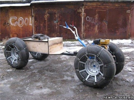 Колеса для снегоходов своими руками